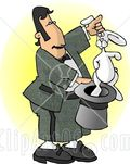 6186-Male-Magician-Pulling-A-Rabbit-Out-Of-A-Hat-Clipart-Picture